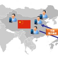 サービスイメージ 中国と日本通話